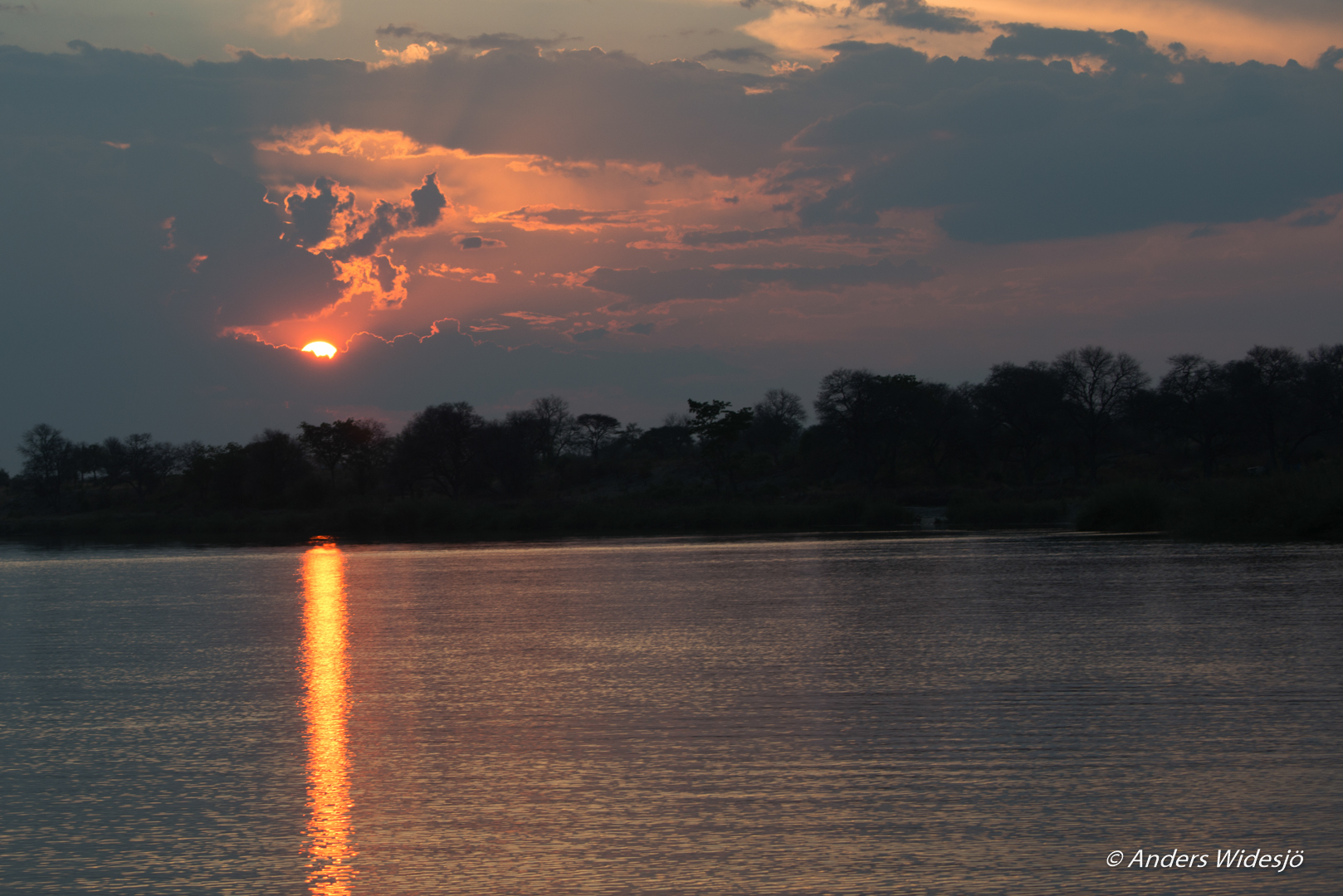 Cubango - Gränsfloden mellan Namibia och Angola